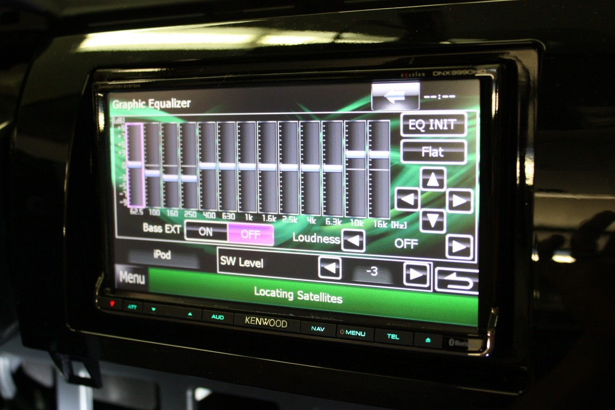 Kenwood Excelon DNX9990HD Equalizer Menu
