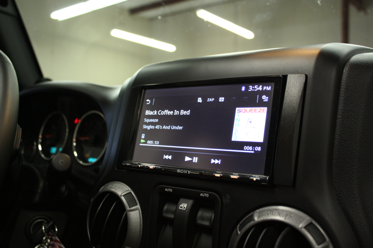 sony double din installed in 2013 jeep wrangler