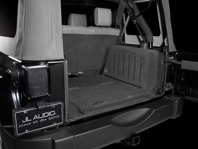 JL Audio offers a Stealth Subwoofer Enclosure for 2007 and up Jeep Wrangler Unlimited