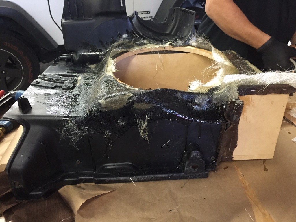 Fabricating Custom Subwoofer Enclosure for Jeep Wrangler Unlimited