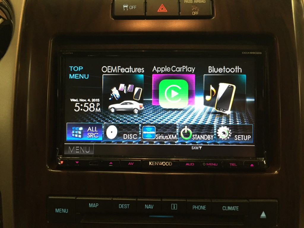 Kenwood DDX9902s installed in a 2012 F-150 that came equipped with stock navigation, Sync and reverse camera.