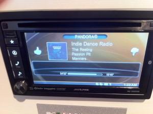 INE-S920HD Pandora Screen