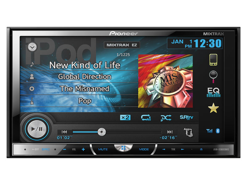 """Pioneer's AVH-X5600BHS 7"""" Double Din Touch Screen Car Stereo"""