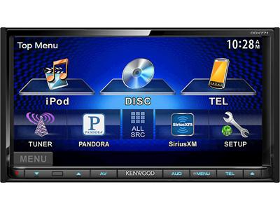 """Kenwood's 7"""" Double Din Touch Screen Head Unit 2014"""
