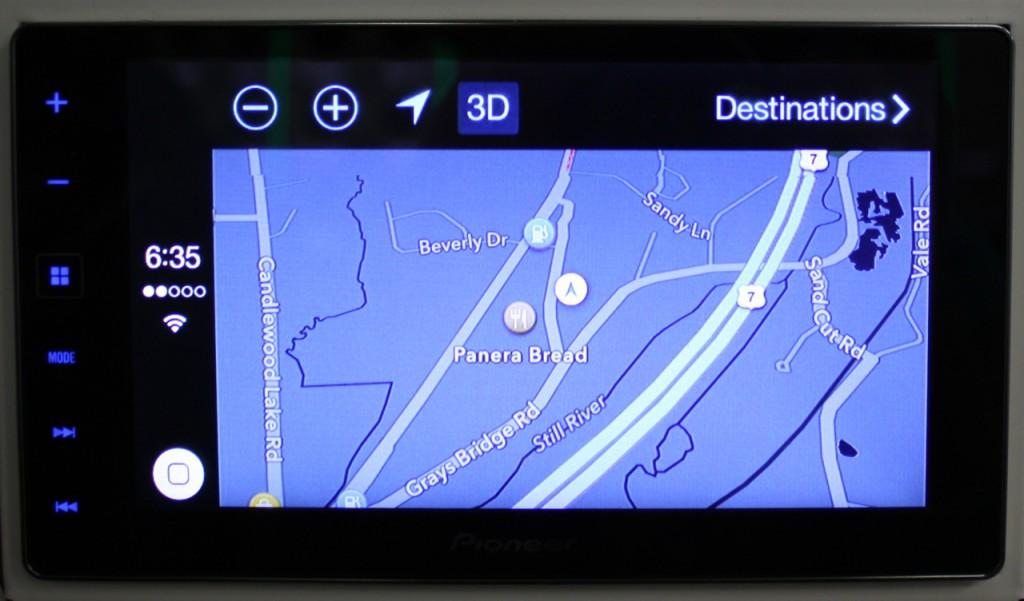 AppRadio 4 Review - CarPlay - Navigation Map