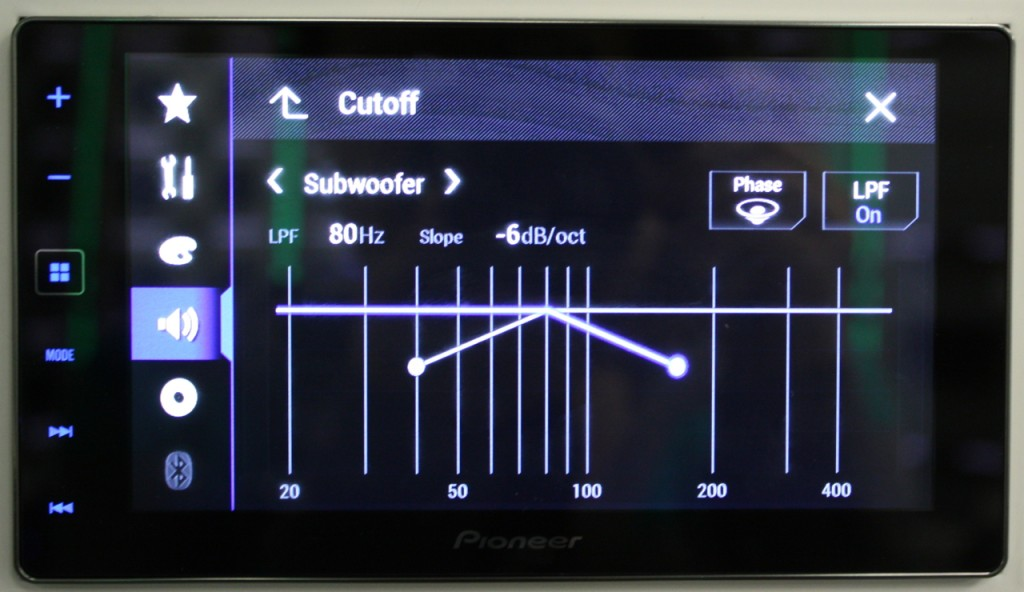 AppRadio 4 Review - Adjusting Crossovers