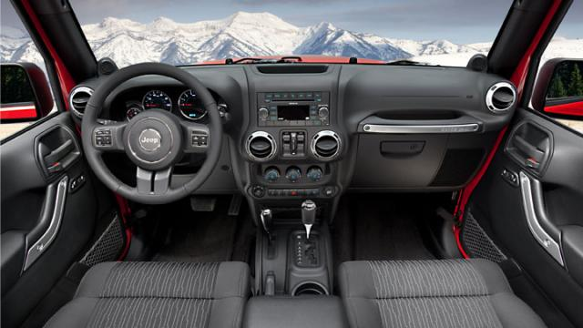 Jeep Wrangler 2012 and up dash