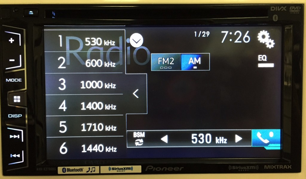 Pioneer Double Din AVH-X2700BS display customized in plain, non flashy manner.