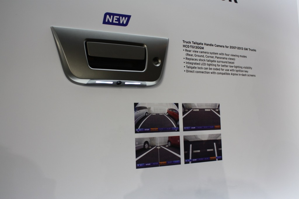 New Alpine GM Reverse Camera at CES 2015 HCE-TG130GM