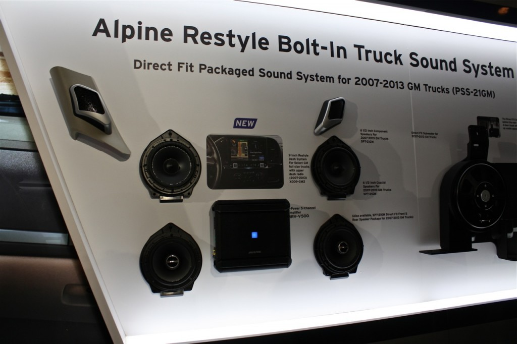 New Alpine GM Truck Audio Uprade Package PSS-21GM
