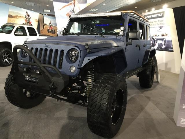 Alpine X009-wra Ces 2015 Demo Jeep Wrangler