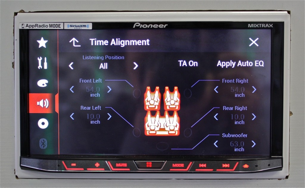 Best Double Din Head Unit 2015 - Pioneer AVH-4100NEX Digital Time Alignment