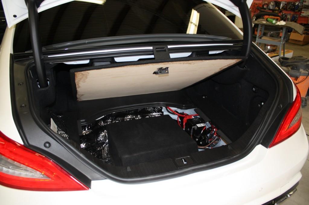 Mercedes CLS AMG Stealth Custom Sub Install