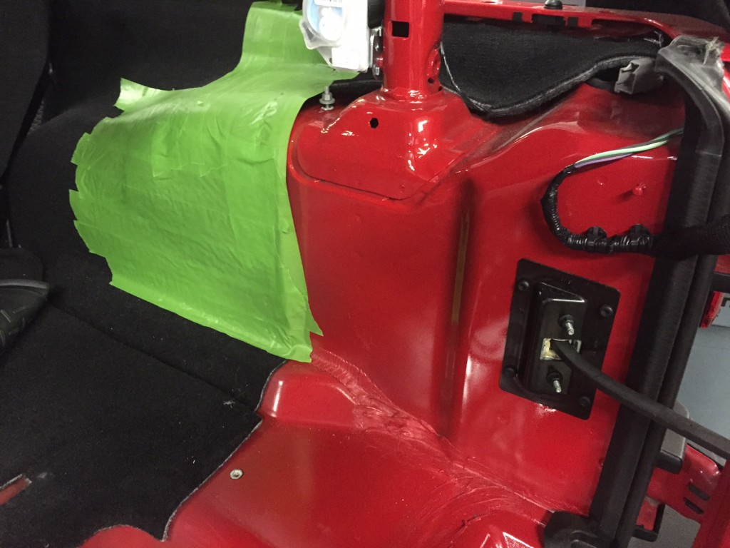 Preparing for Custom Jeep Subwoofer Enclosure