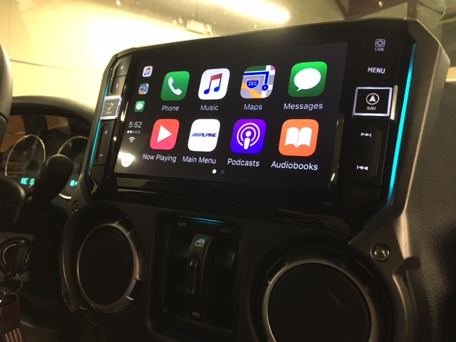 Alpine i209-WRA installed Jeep Wrangler - Sounds Incredible Mobile, Brookfield, CT.