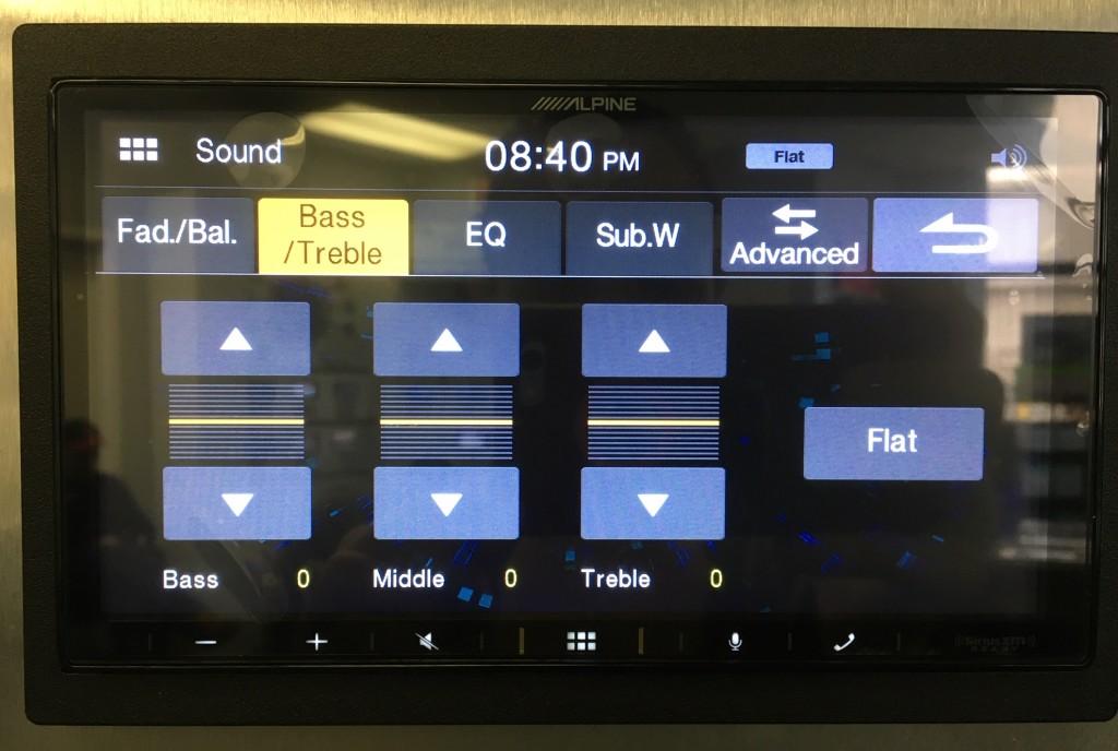 Alpine iLX-W650 Review -Simple Audio Controls pic