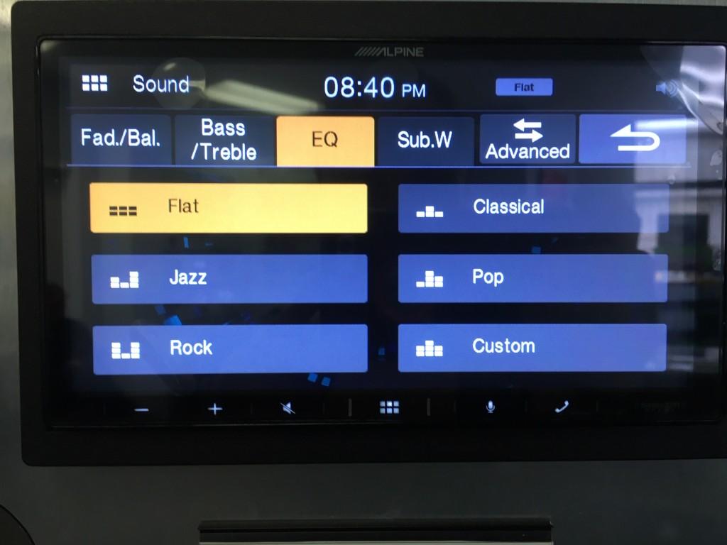 Alpine iLX-W650 Review - Simple Preset EQ pic