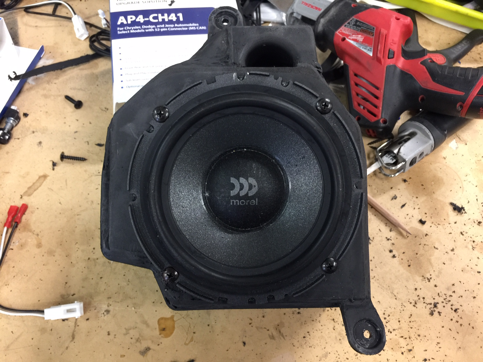 Jeep Wrangler JLU Stereo Upgrade - Modified speaker enclosure final